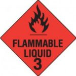 Class 3 Dangerous Goods Warning Triangle