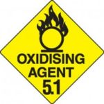 Class 5.1 Dangerous Goods Warning Triangle