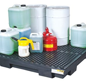 Drum-bund-low-profile-polyethylene-with-removable-grate-–-four-drum