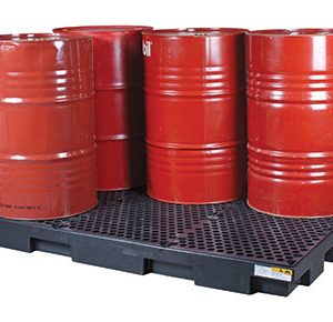 Drum-bund-low-profile-polyethylene-with-removable-grate-–-six-drum