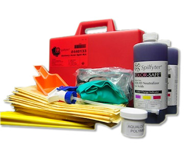 Hazchem Spill Kit - Battery acid Spilfyter 2L absorbent capacity