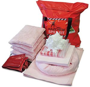 Hazchem Spill Kit - Pack bag 62L absorbent capacity
