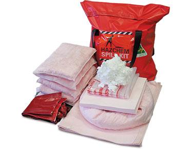 Hazchem Spill Kit - Pack bag 62L absorbent capacity
