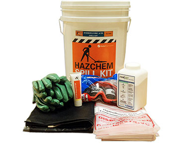 Hazchem Spill Kit - Hydrofluoric acid 650mL absorbent capacity