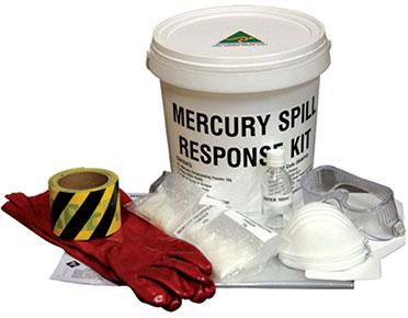 Mercury spill response kit - 10 small spills