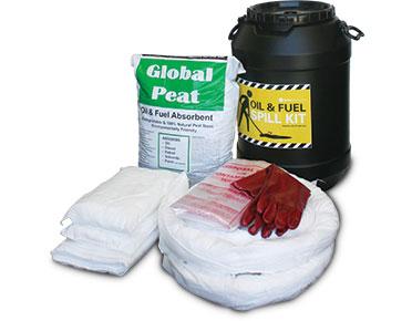 Oil & Fuel Barrel Spill Kit - 75L absorbent capacity