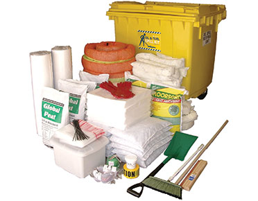 Oil & Fuel Outdoor Spill Kit - Large mobile bin 1,270L absorbent capacity
