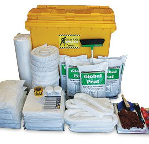 Oil & Fuel Outdoor Spill Kit - Large mobile bin 770L absorbent capacity