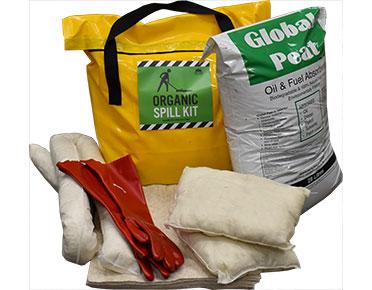 Oil & Fuel Organic Spill Kit - Station bag 104L absorbent capacity